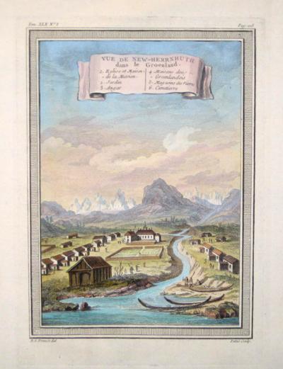 Prevost B.L. Vue de New- Herrnhuth dans le Groenland