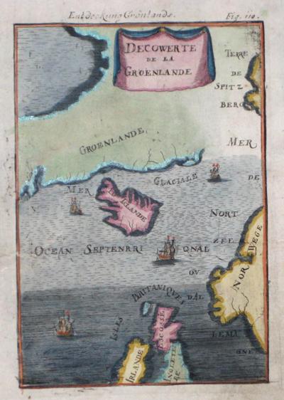 Mallet  Decowerte de la Groenlande/ Entdeckung Grönlands