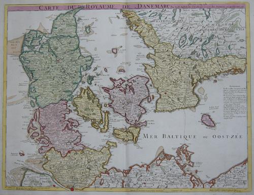 Dezauche/de l´Isle, J.C. / Guillaume Carte du Royaume de Danemarc