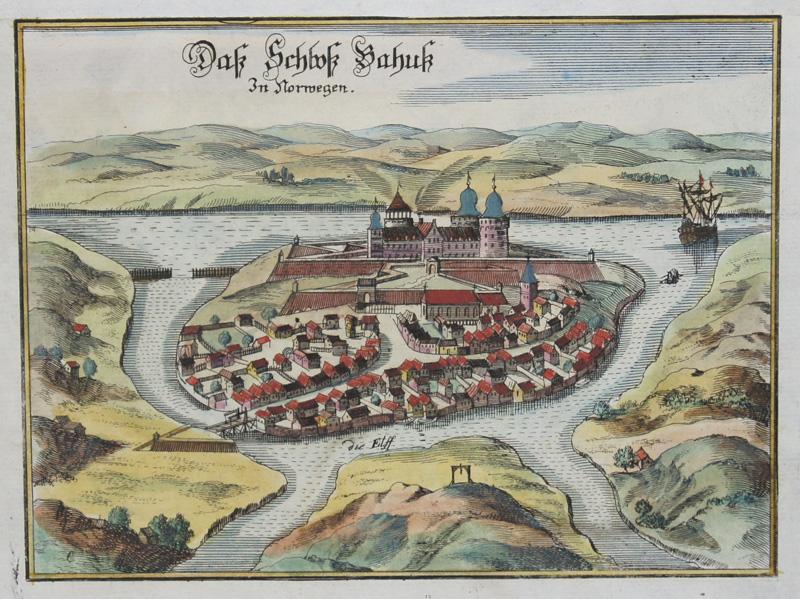 Merian Matthäus Das Schloß Bahuk in Norwegen