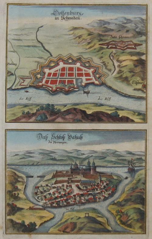 Anonymus  Gottenburg in Schweden/ Das Schloß Bahuk in Norwegen