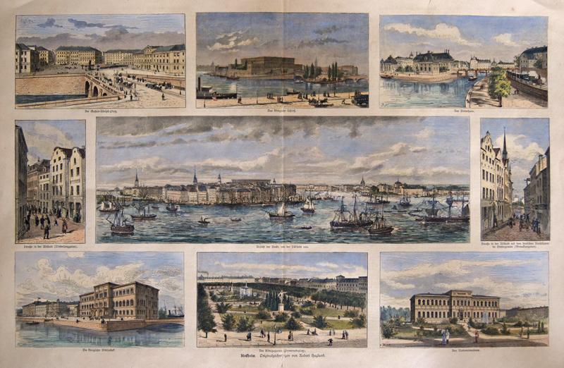 Haglund Robert Louis Stockholm. Originalzeichnung von Robert Haglund.