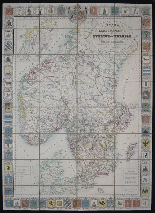 Brudins J. L. Karta ölver Landswagarne uti Sverige och Norrige samt en del af Dannemark