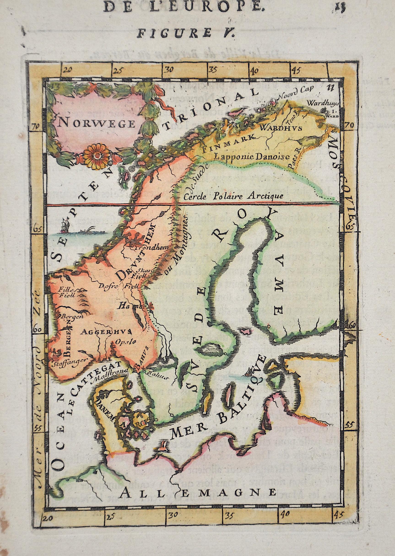 Mallet Alain Manesson De L'Europe. Figure V. / Norwege