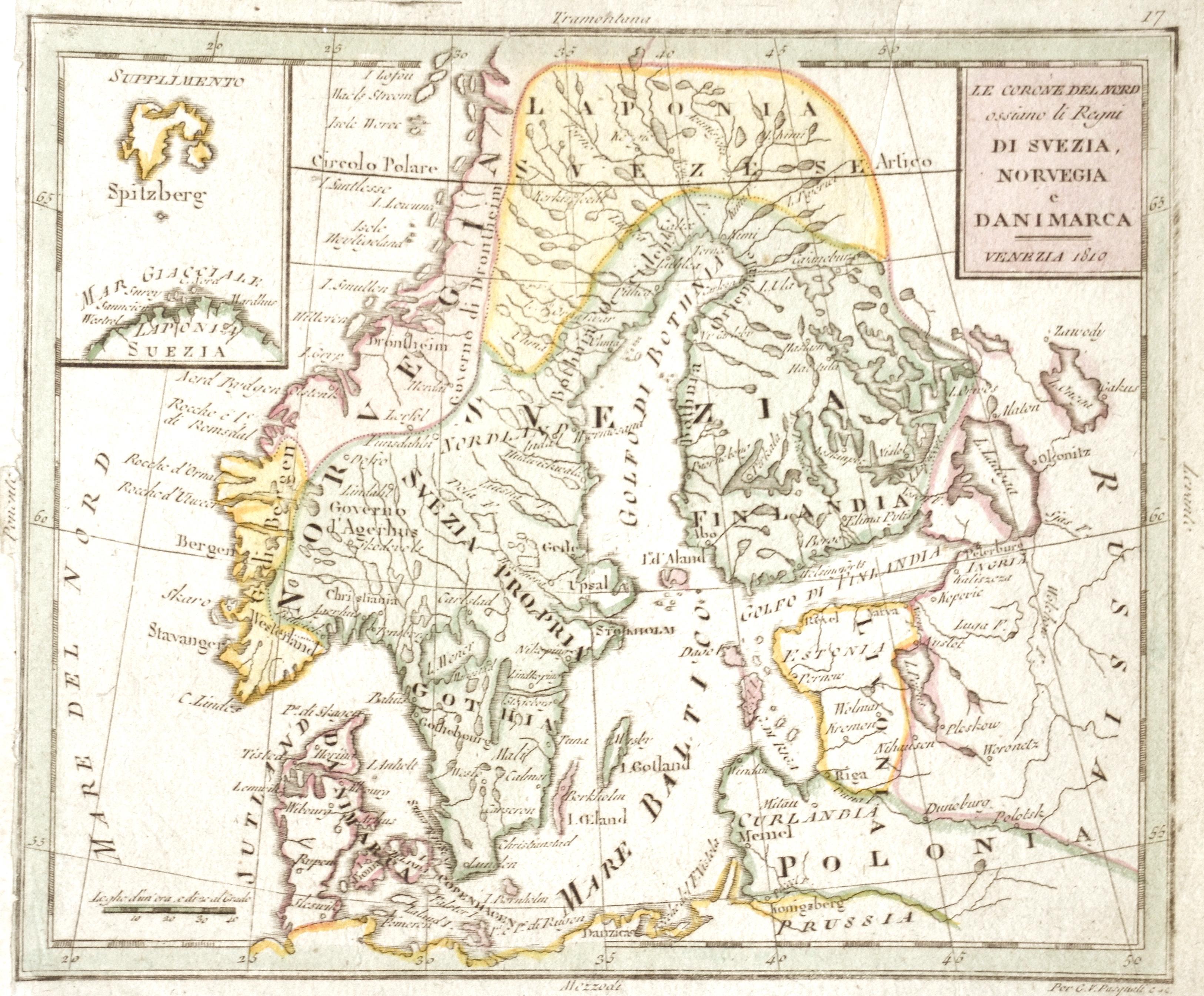 Pasquali  Le Corone del Nord ossiano li Regni di Svezia, Norvegia e Danimarca