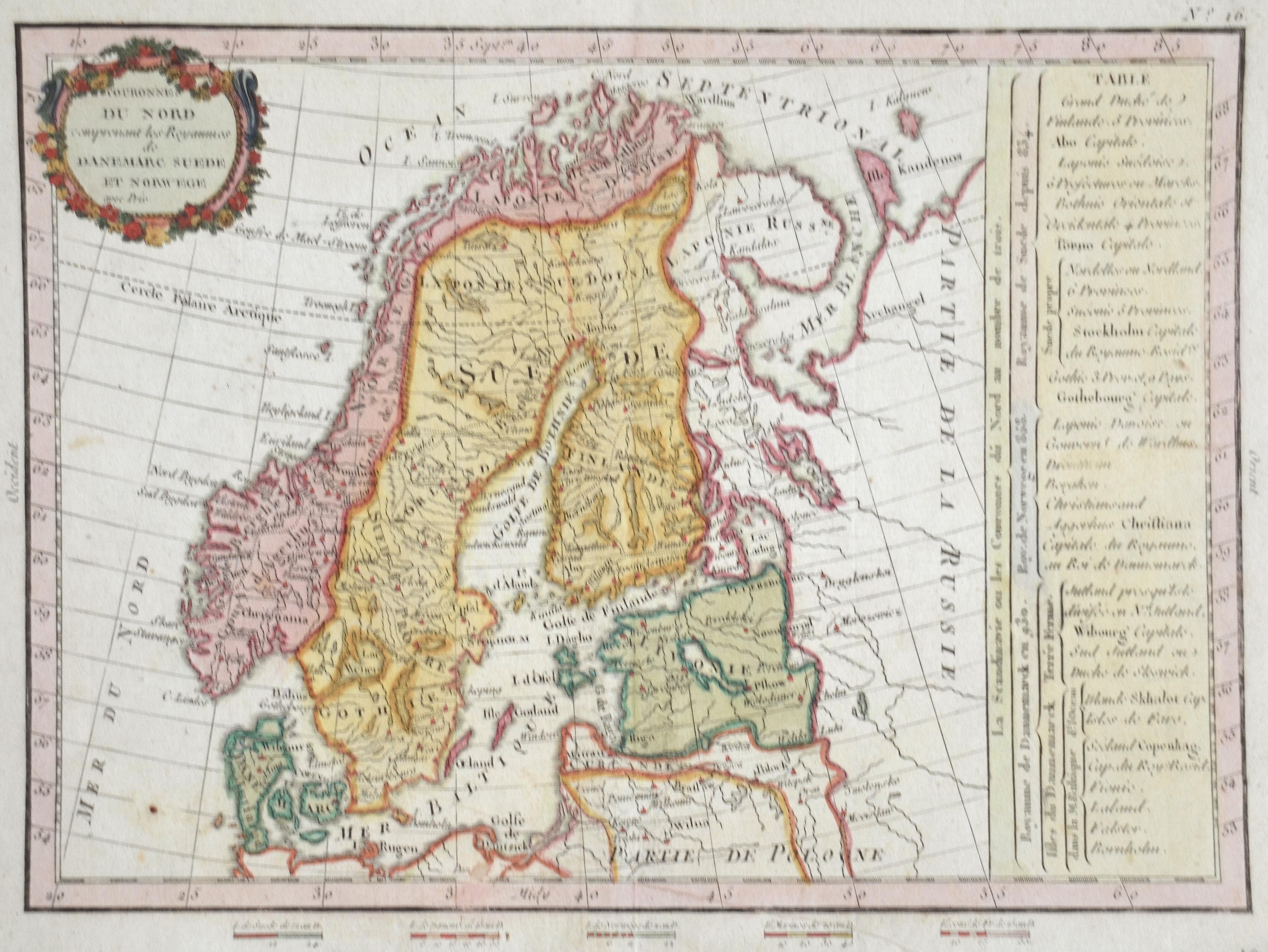 Anonymus  Couronnes du Nord comprenant les Royaumes de Danemarc Suede et Norwege