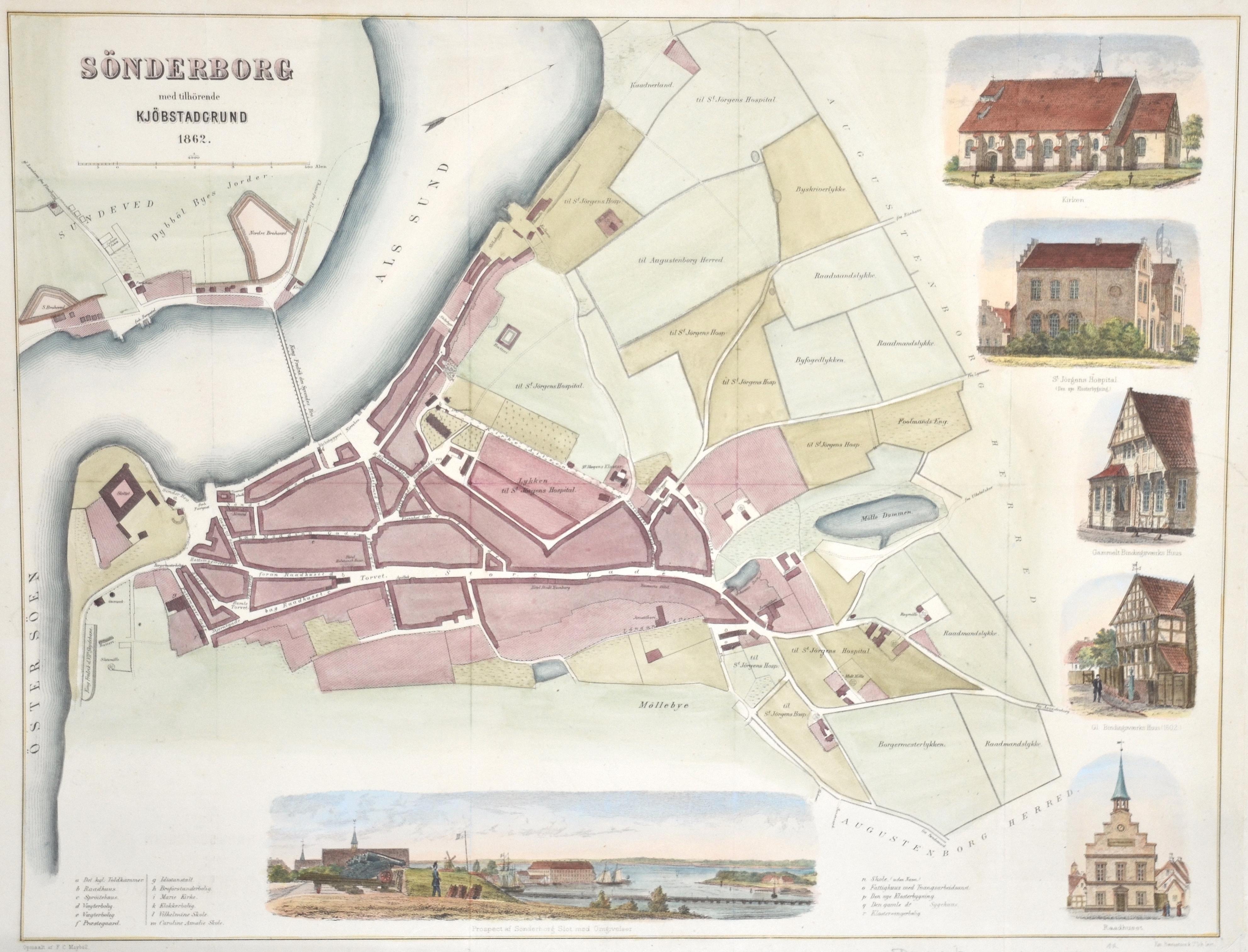Basrentzen  Sönderborg med tilhörende Kjöbstadgrund 1862.
