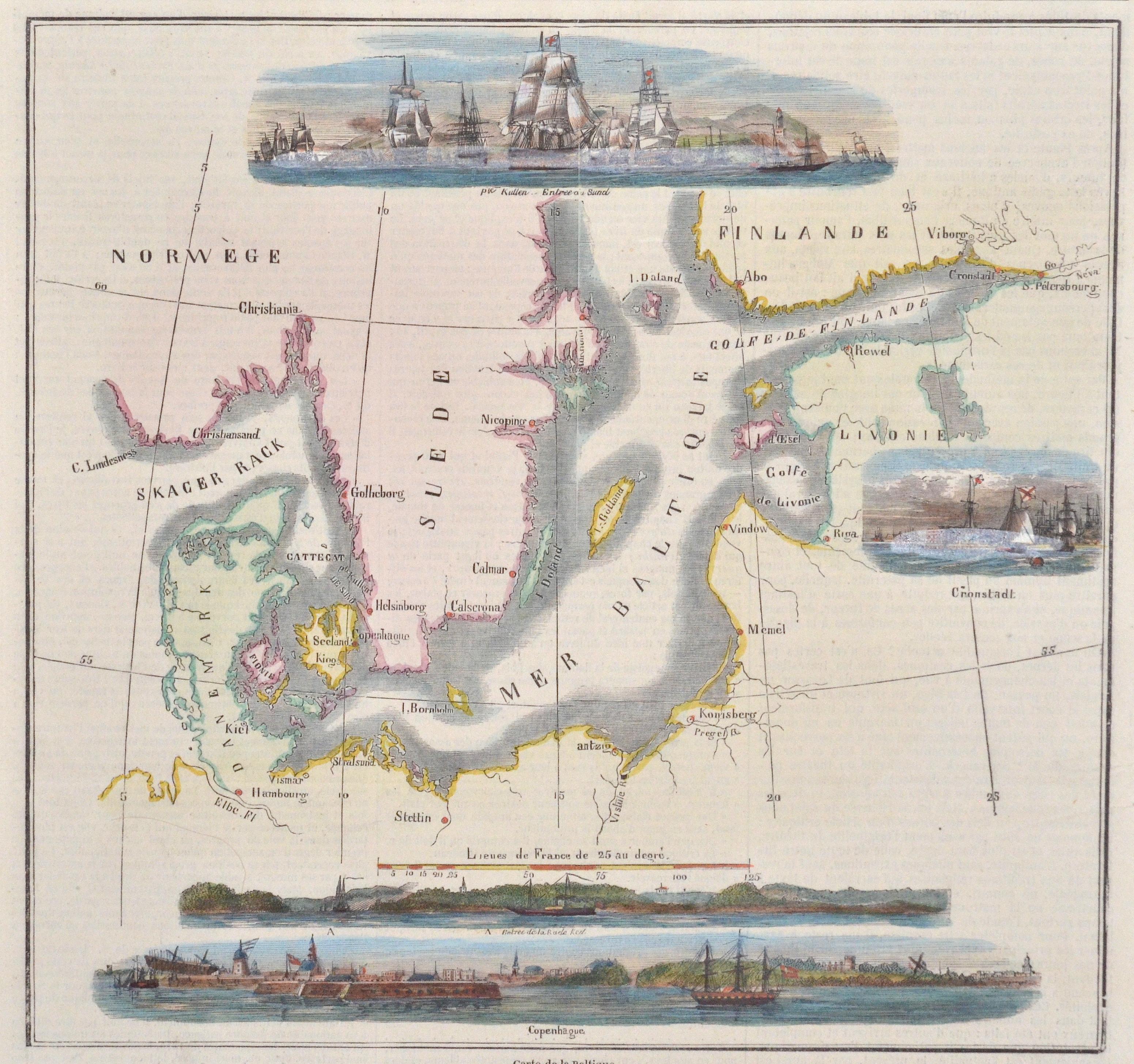 Anonymus  Carte de la Baltique.
