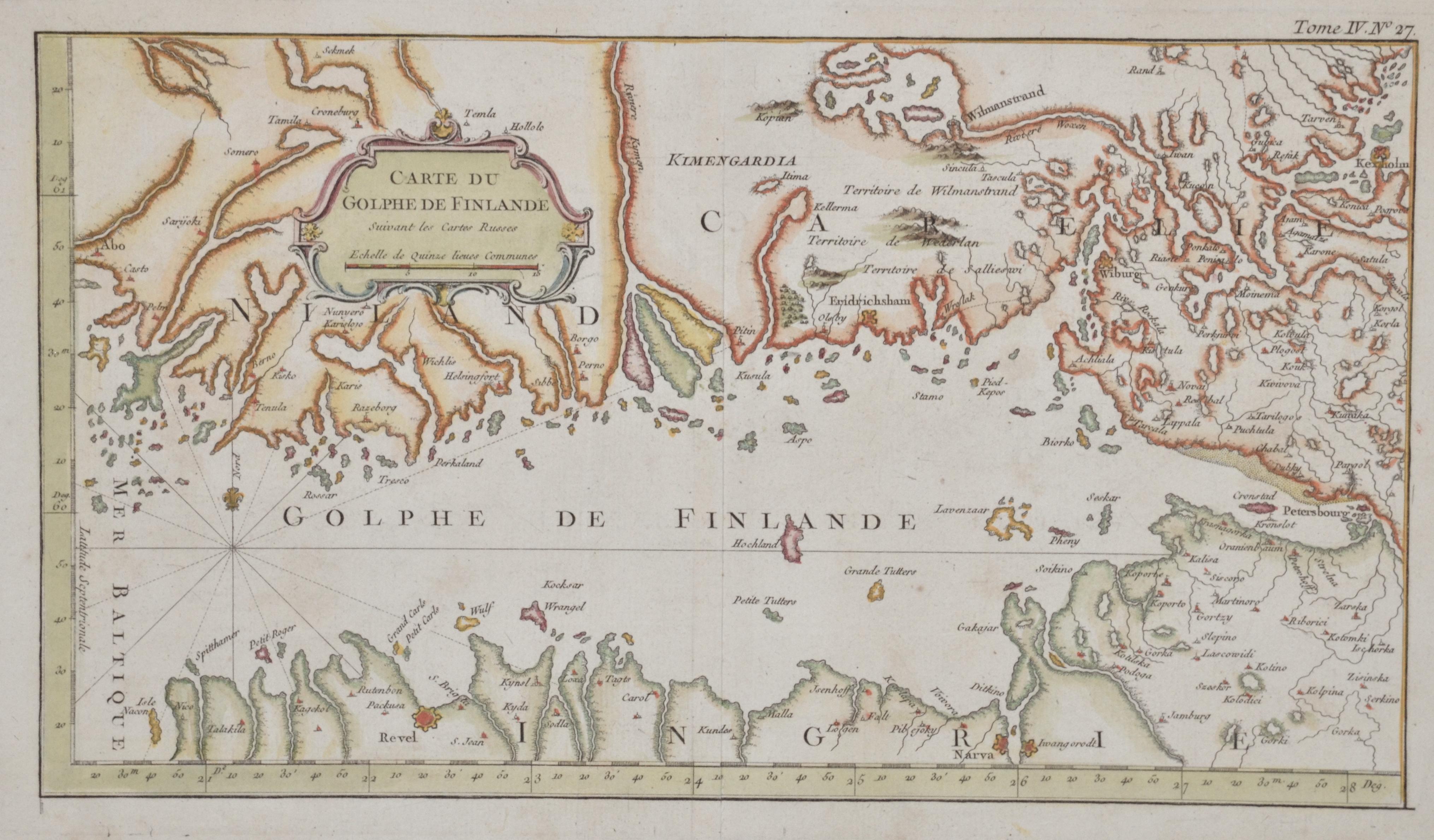 Anonymus  Carte du Golphe de Finlande