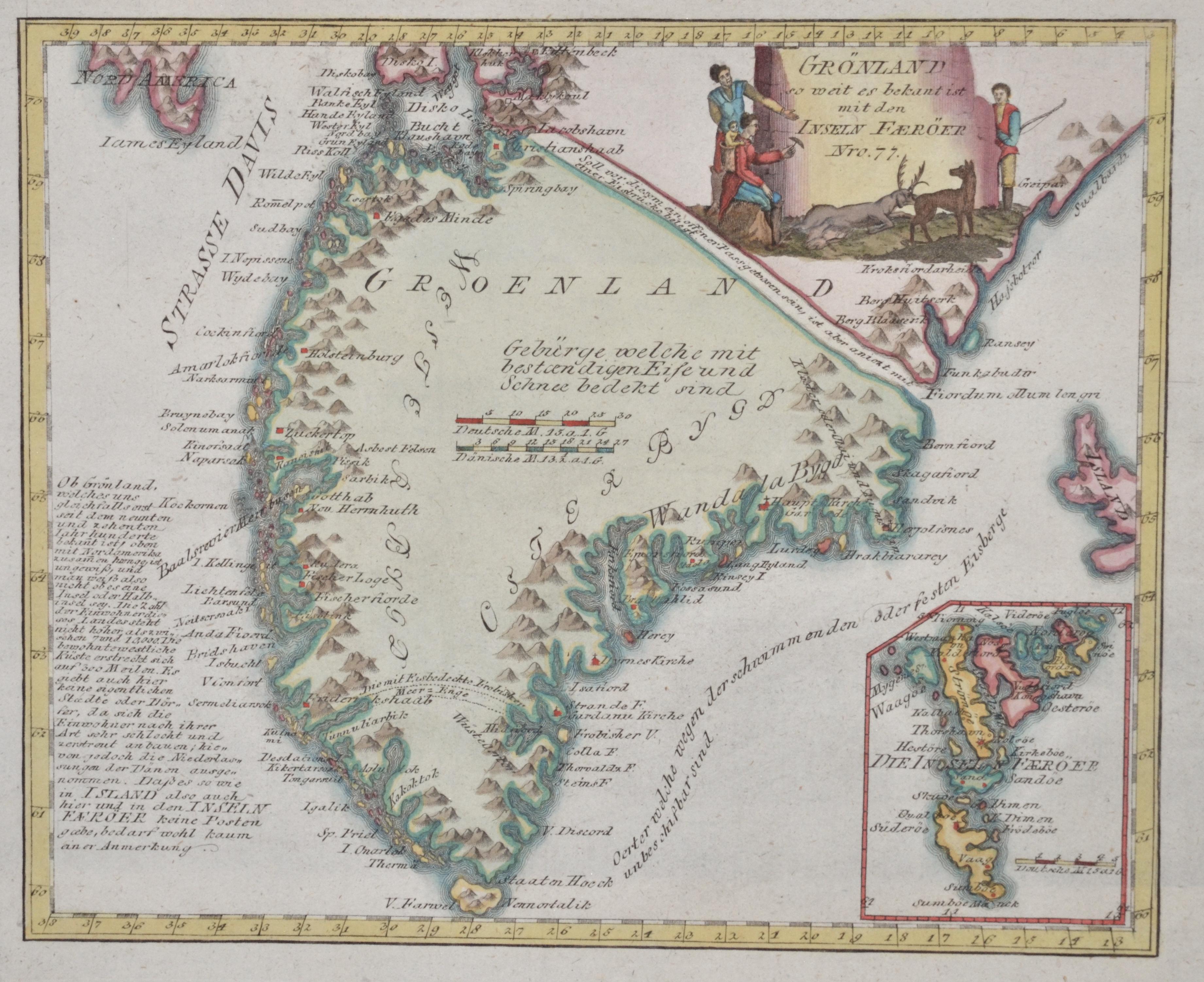 Reilly  Grönland so weit es bekant ist mit den Inseln Faeröer Nro. 77.