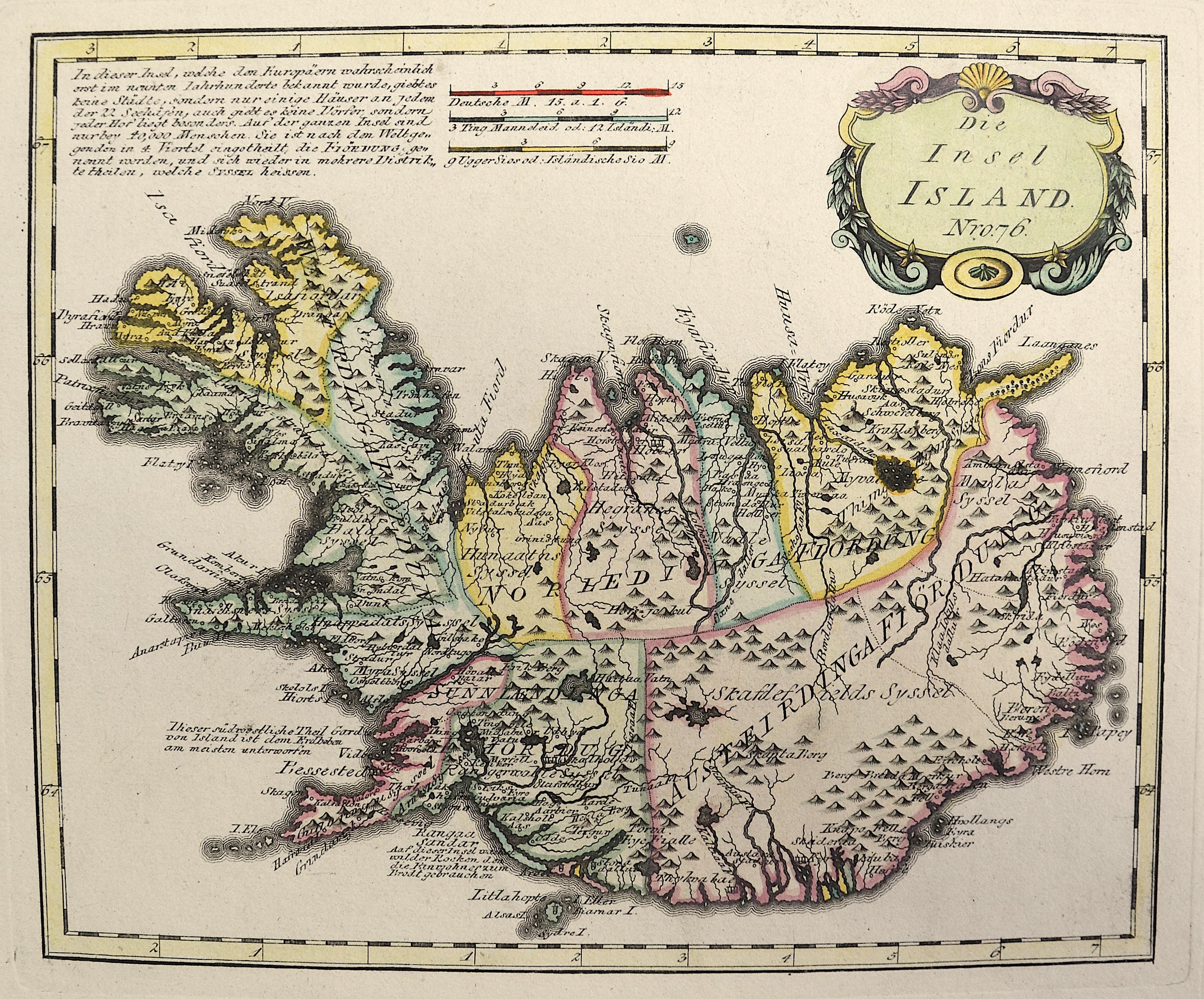 Reilly Franz Johann Joseph Die Insel Island Nro. 76.