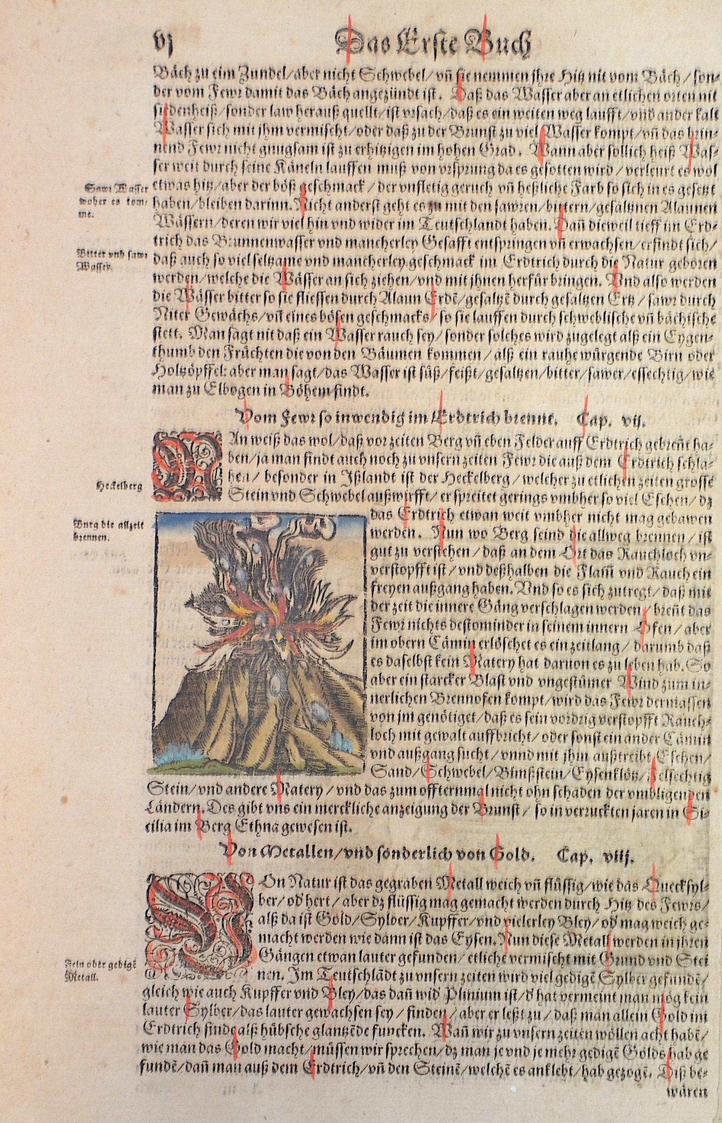 Münster Sebastian Der Cosmography. / Vom feüwr so inwendig im erdtrich brint,