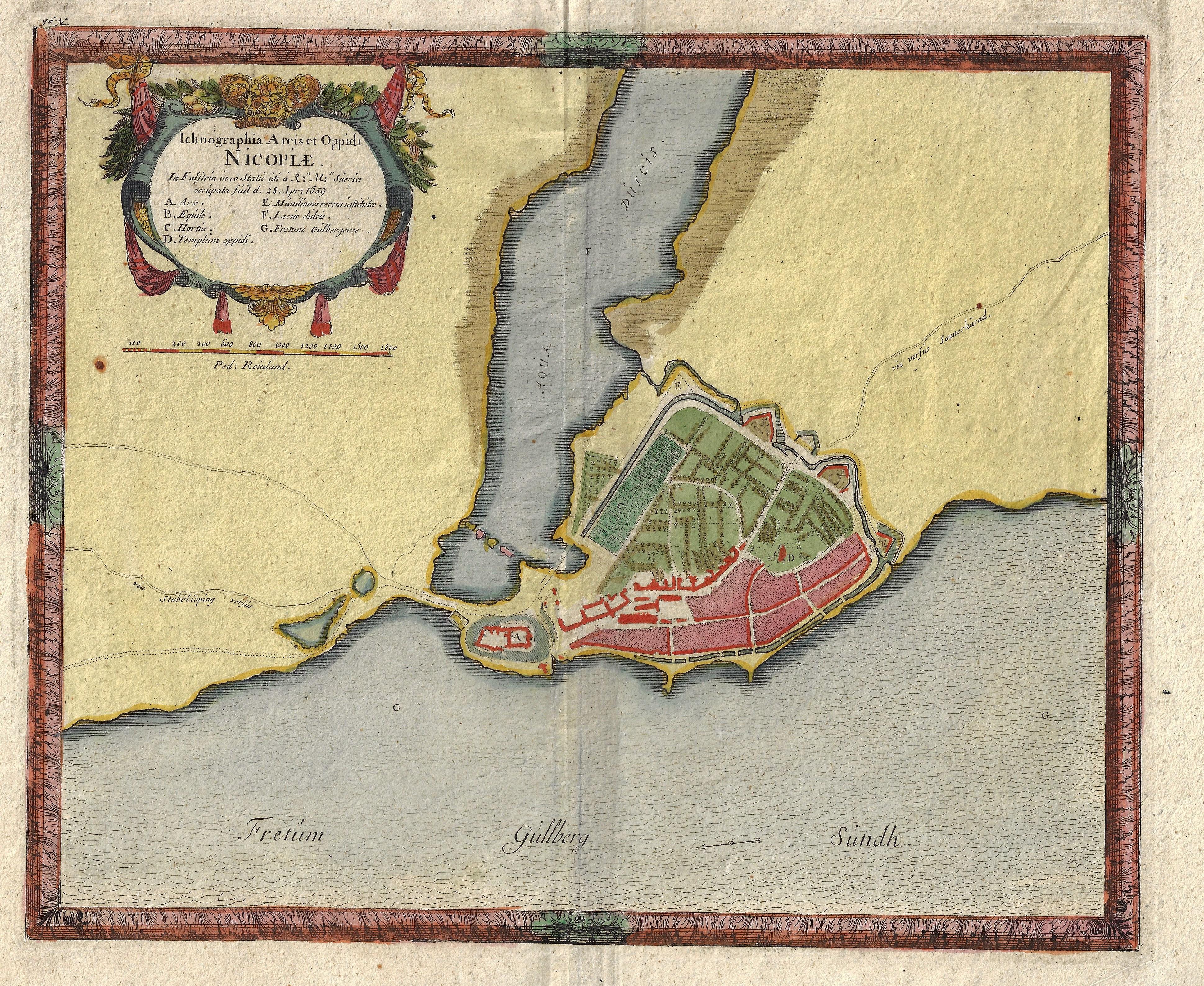 Pufendorf, Baron von  Ichnographia Arcis et Oppidi Nicopiae.