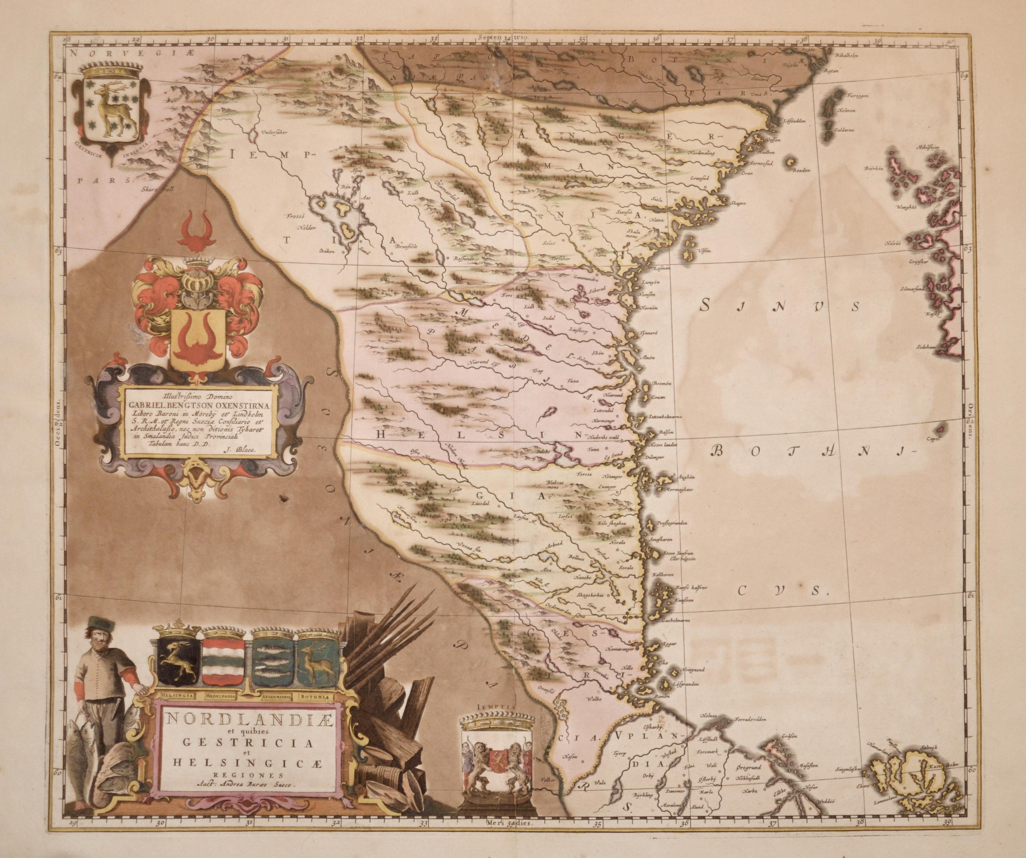 Blaeu  Nordlandiae et quibies Gestricia et Helsingicae Regiones