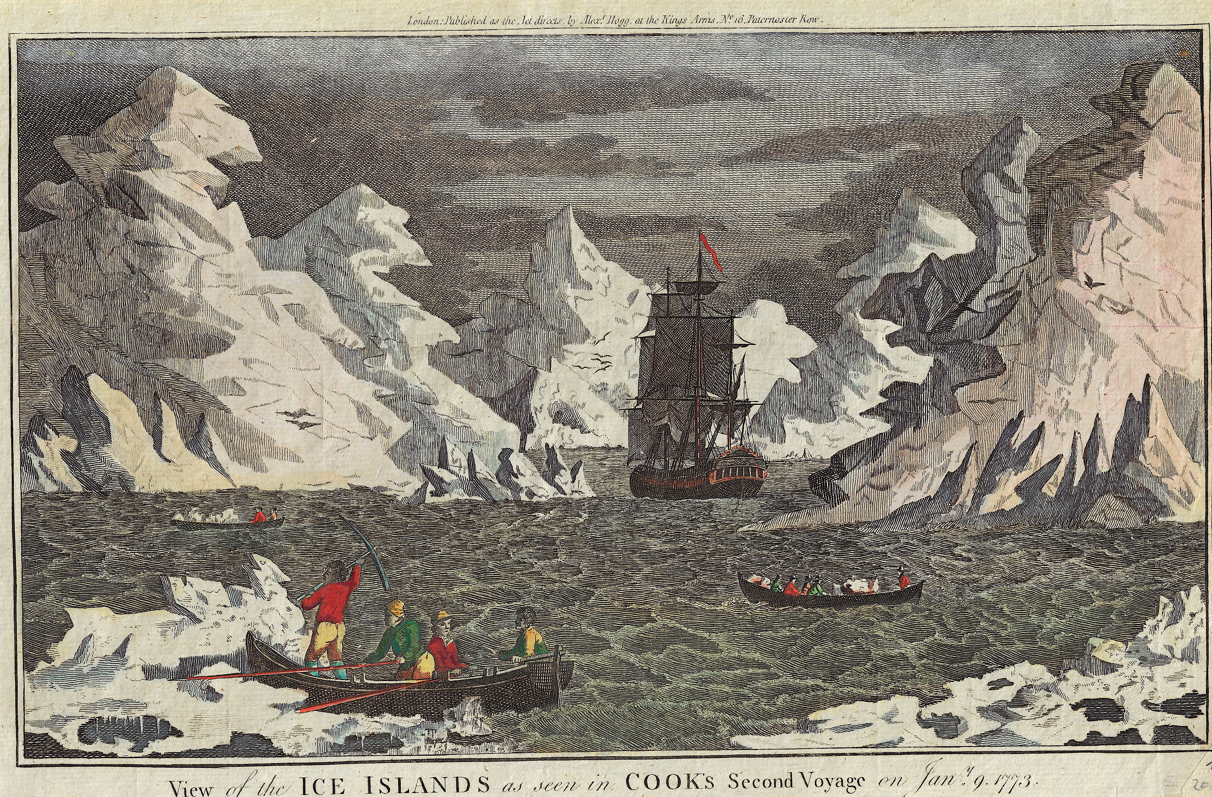 Hogg Alexander View of the Ice Islands as seen in Cook's Second Voyage on Jan. 9. 1773.