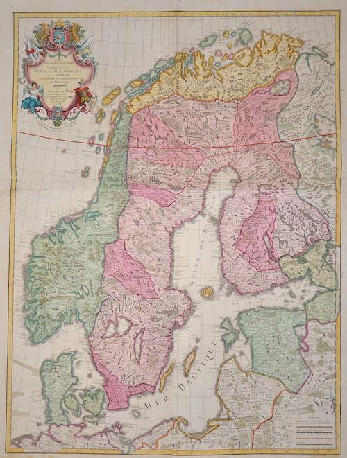 Dezauche/de l´Isle, J.A. / G. Carte des Courones du Nord comprenant la Suede, Le Danmarc, C. La Norwege, La Ponie Sueduise, Danuise et Moscovite