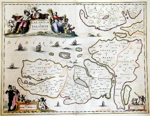 Janssonius Johann Lalnadiae et Falstriae Accurata descriptio