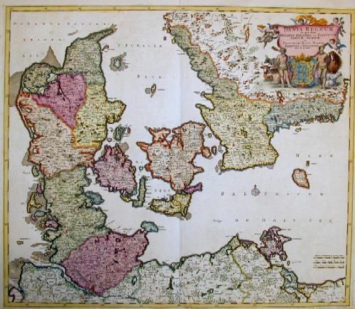 Wit, de Frederick Dania regnum In quo sunt Ducatus Holsatia et Slesvicum Insulae Danicae et Provinciae Jutia, Scania, Blekingia et Hallandia