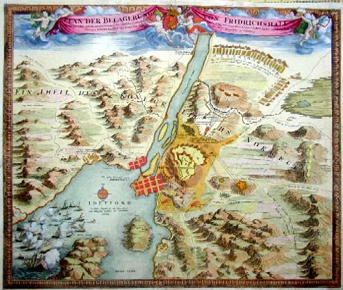 Homann Johann Babtiste Plan der Belagerung von Friedrichshall