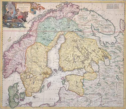 Danckerts  Accuratissima regnorum Sueciae, Daniae et Norwegiae tabula