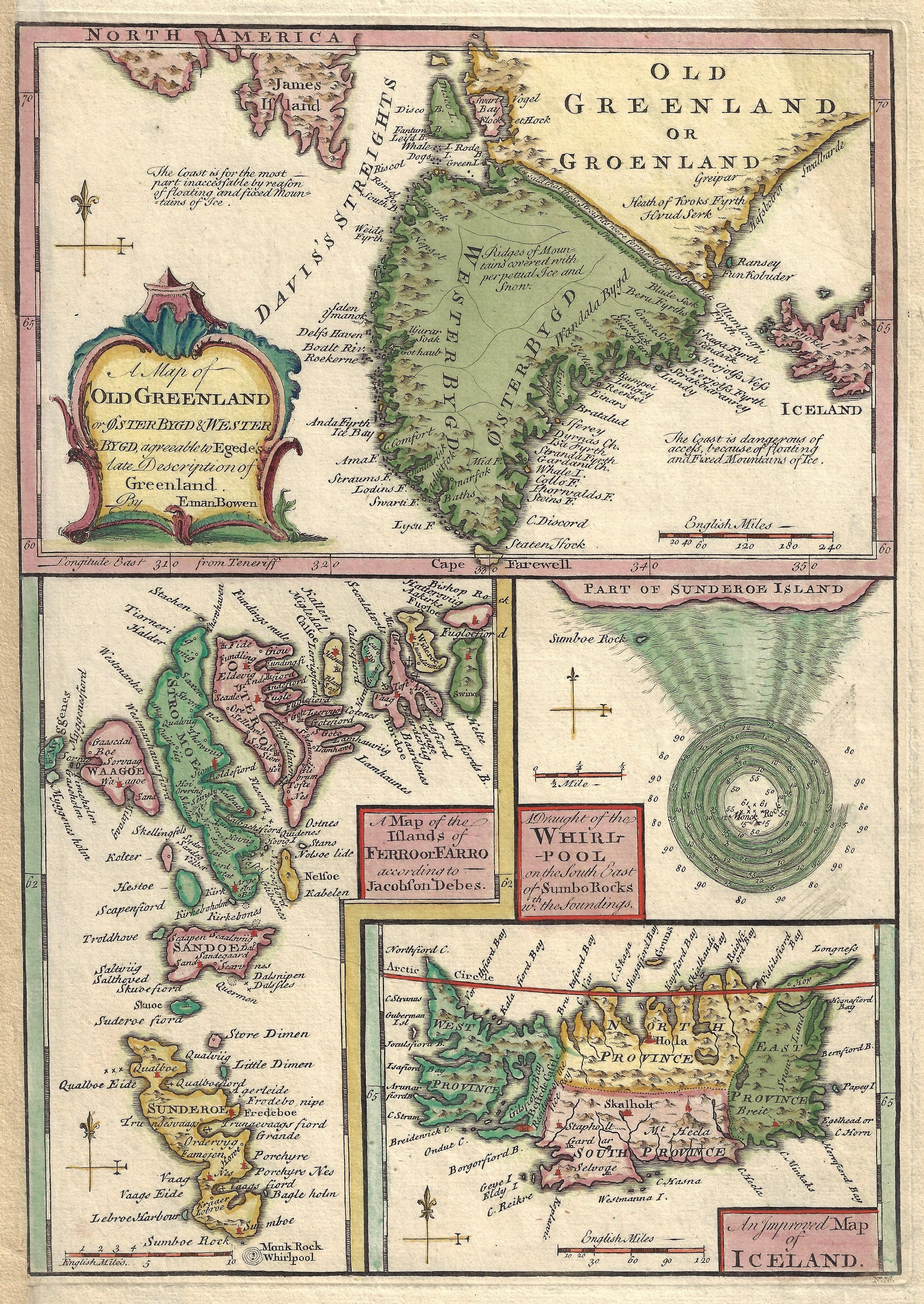 Bowen Thomas A map of old Greenland…