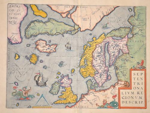Ortelius  Septentionalium regionum descrip.