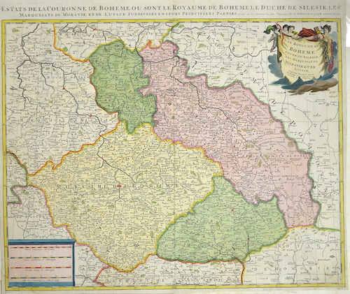 Schenk/ Sanson, Nicolas  Les États de la Couronne de Boheme ou sont le Royaume de Boheme, le duché de Silesie…