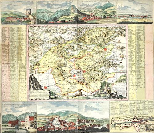 Schenk  Geographischer Entwurff der Stadt und Gegend des Welt berühmten Kaeyser Carlbades in Königreich Böhmen…