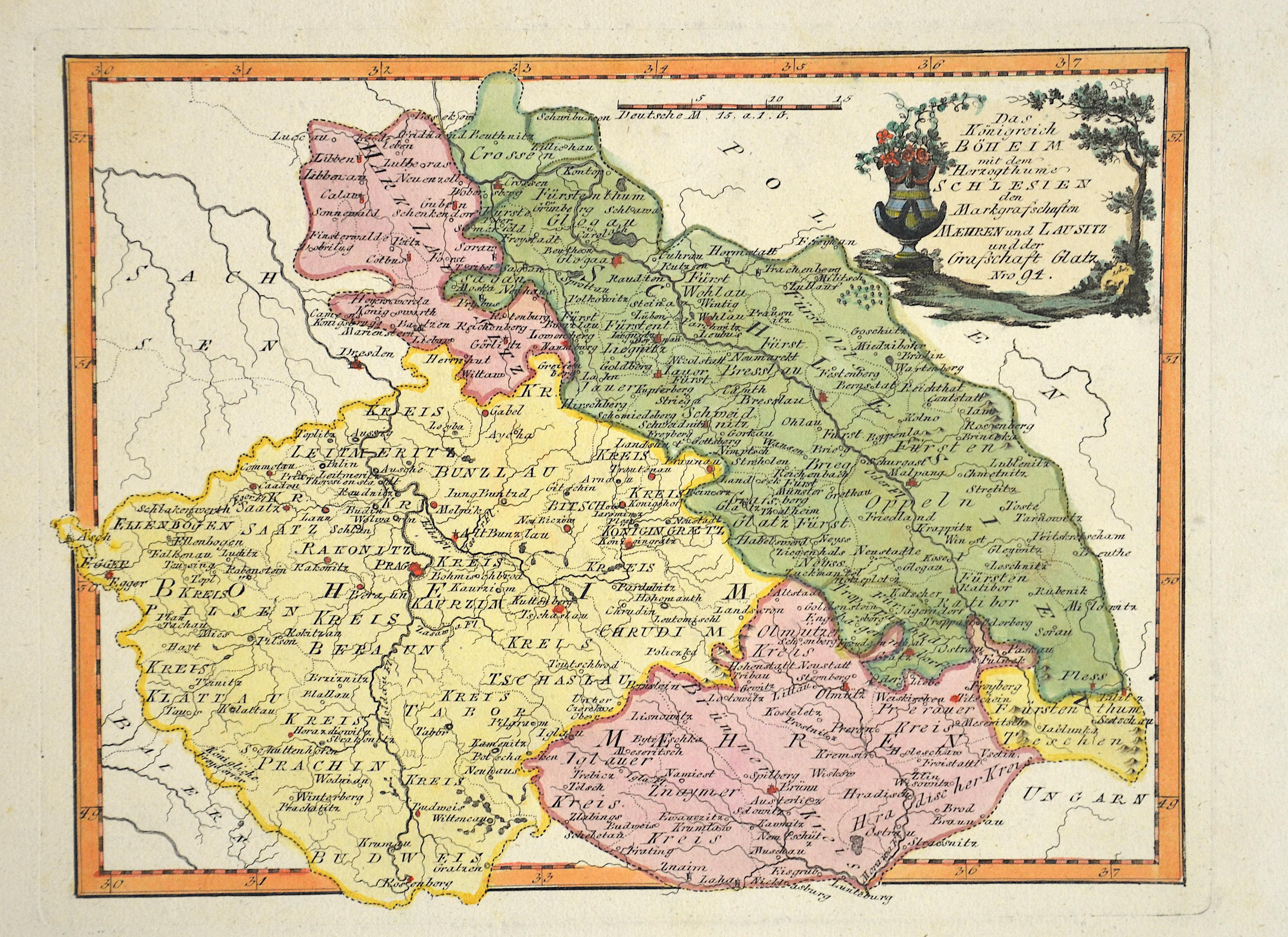 Reilly Franz Johann Joseph Das Königreich Böheim mit dem Herzugthume Schlesien den Markgrafschaften Maehren und Lausitz und der Grafschaft Glatz