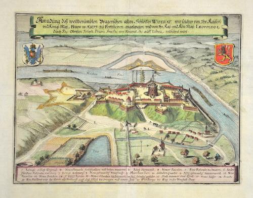 Merian  Abbildung dess weitberümbten Pragerischen alten Schlosses Wiserat, wie solches von Ihr kayserlich und königlich May. Ferdi III A:1653 zu Fortifizieren