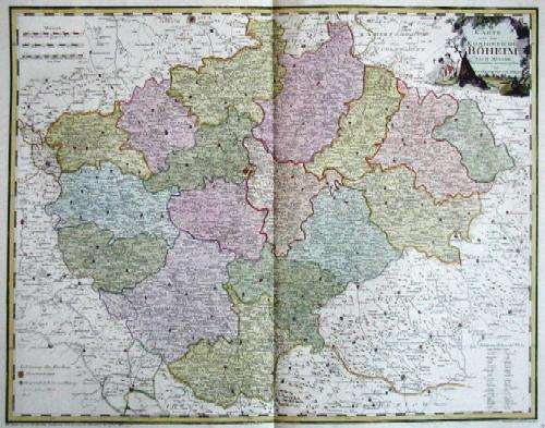 Reilly  Karte von dem Königreiche Böheim