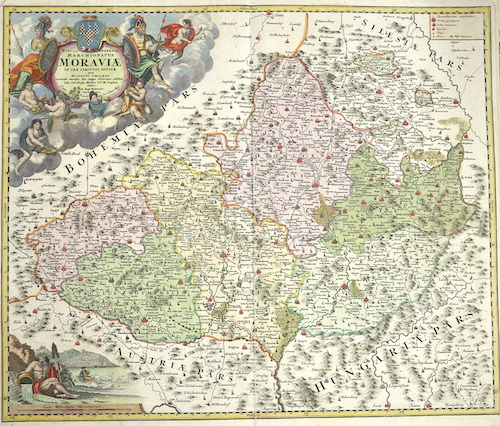 Homann  Tabula generalis marchionatus Moraviae in sex circulos divisae…….
