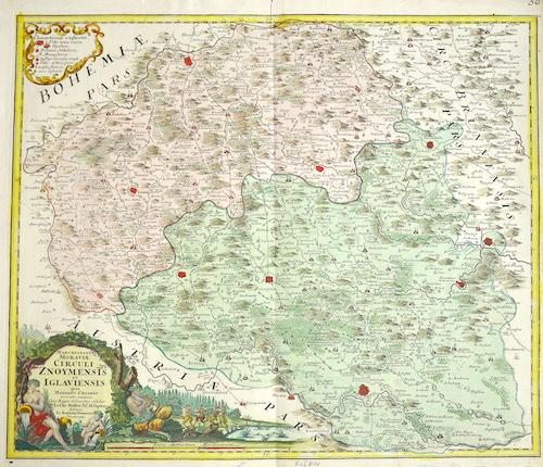 Homann  Marchionatus Moraviae circuli Znoymensis et Iglauiensis……