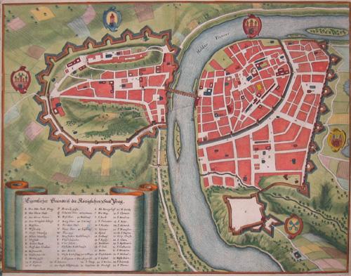 Merian  Eigentlicher Grundriß der Königlichen Stadt Prag