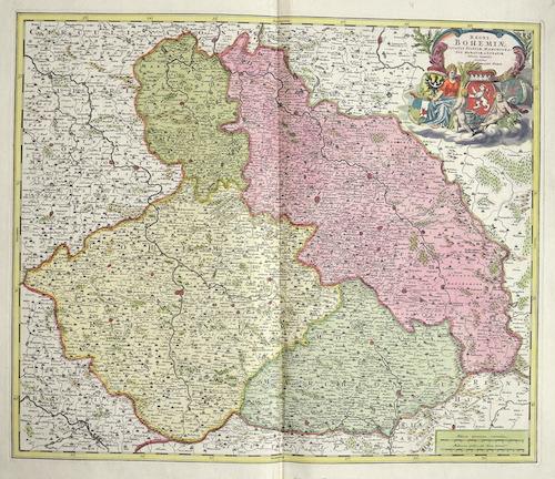 Homann  Regni Bohemiae, ducatus Silesiae marchionatus Moraviae et Lusatiae