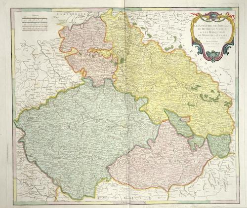 Vaugondy, de  Le Royaume de Boheme, le duche de Silesie, et les Marquisats de Moravie et Lusace