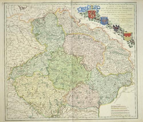 Homann Erben  Carte generale du Royaume de Boheme du Duche de Silesie et des Marquisats de Moravie et de Lusace