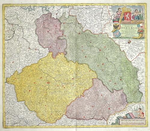 Seutter Matthias Mappa geographica regnum Bohemia cum adjunctis ducatu Silesiae et Marchionatib, Moravia et Lusatiae