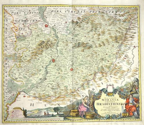 Homann  Marchionatus Moraviae circulus Hradistiensis….