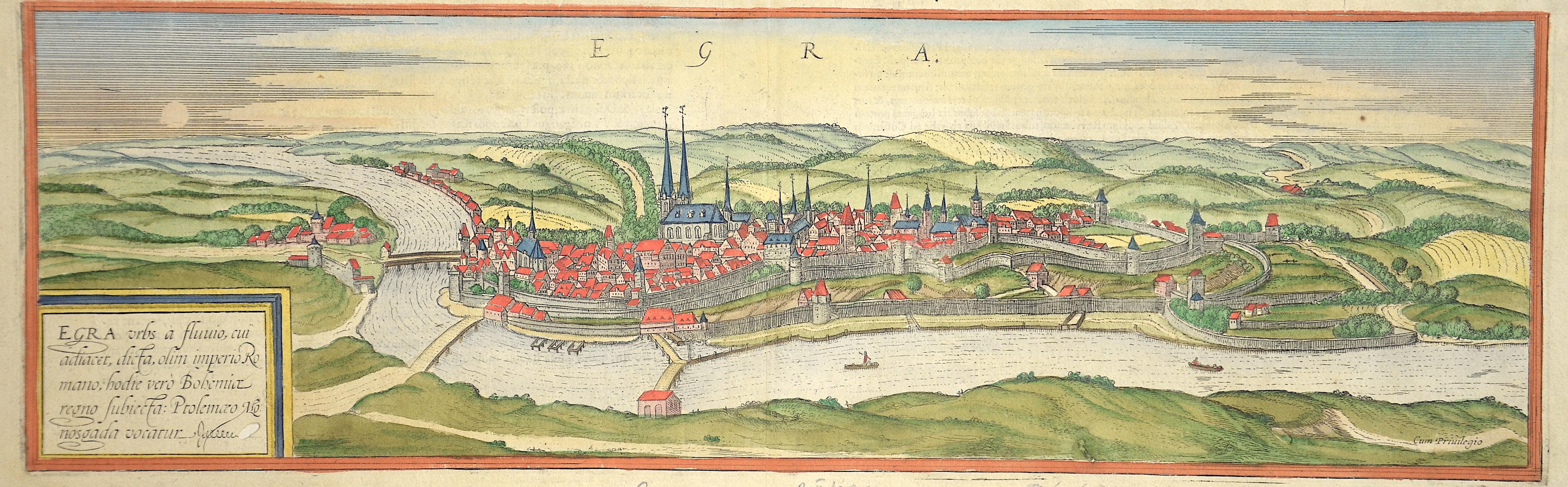 Braun/Hogenberg Franz/ Georg Egra urbs a fluuio, cui adiacet ……