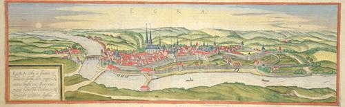 Braun/Hogenberg  Egra urbs a fluuio, cui adiacet ……