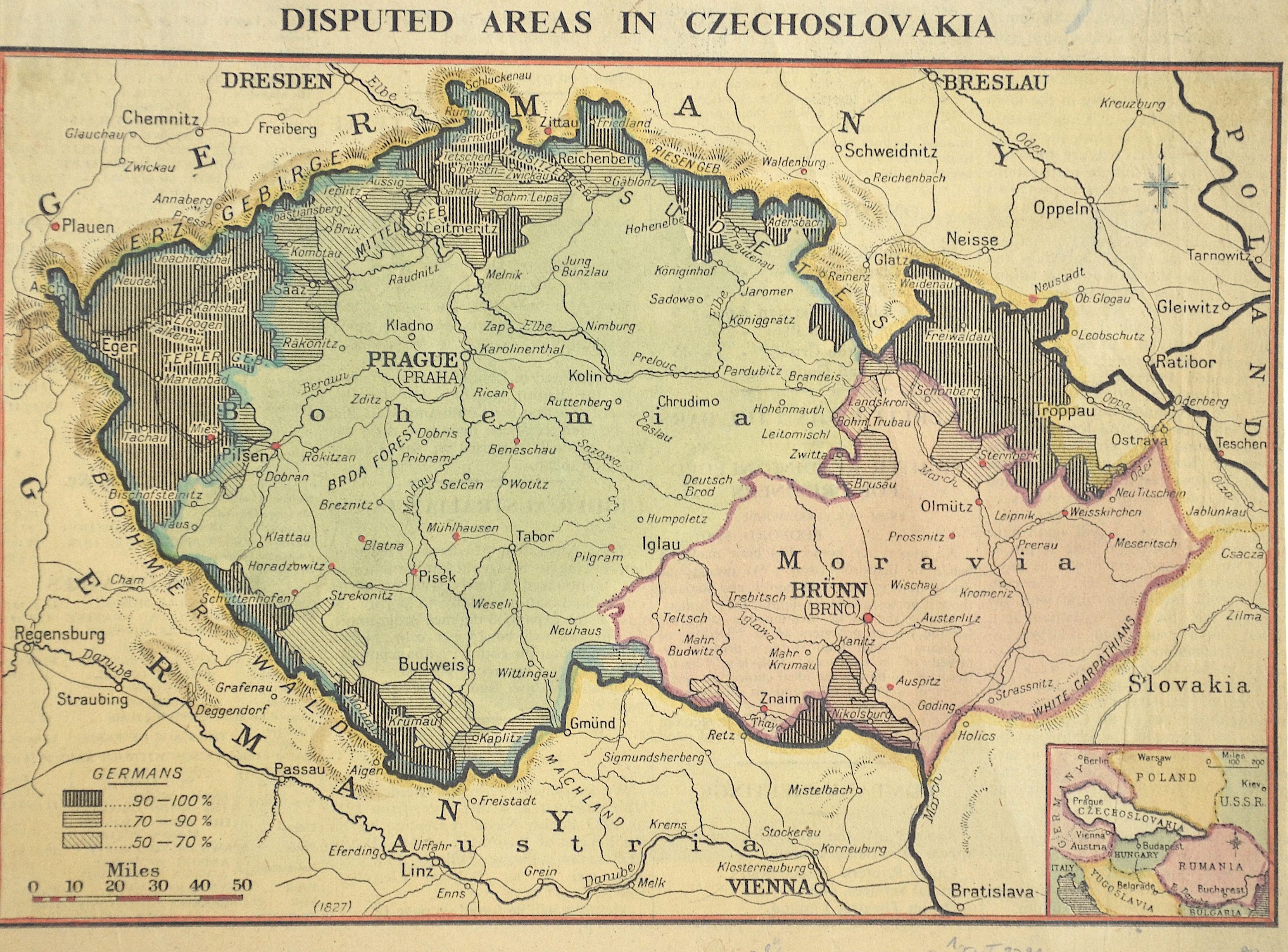 Anonymus  Disputen areas in Czechoslovakia