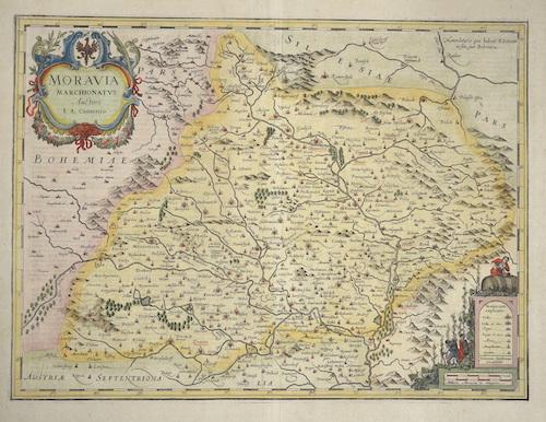 Janssonius  Moravia Marchionatus Auctore I. A. Comenio