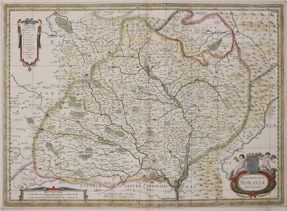 Janssonius/ Pitt Moses  Marchionatus Moraviae Auct I. Comenio.