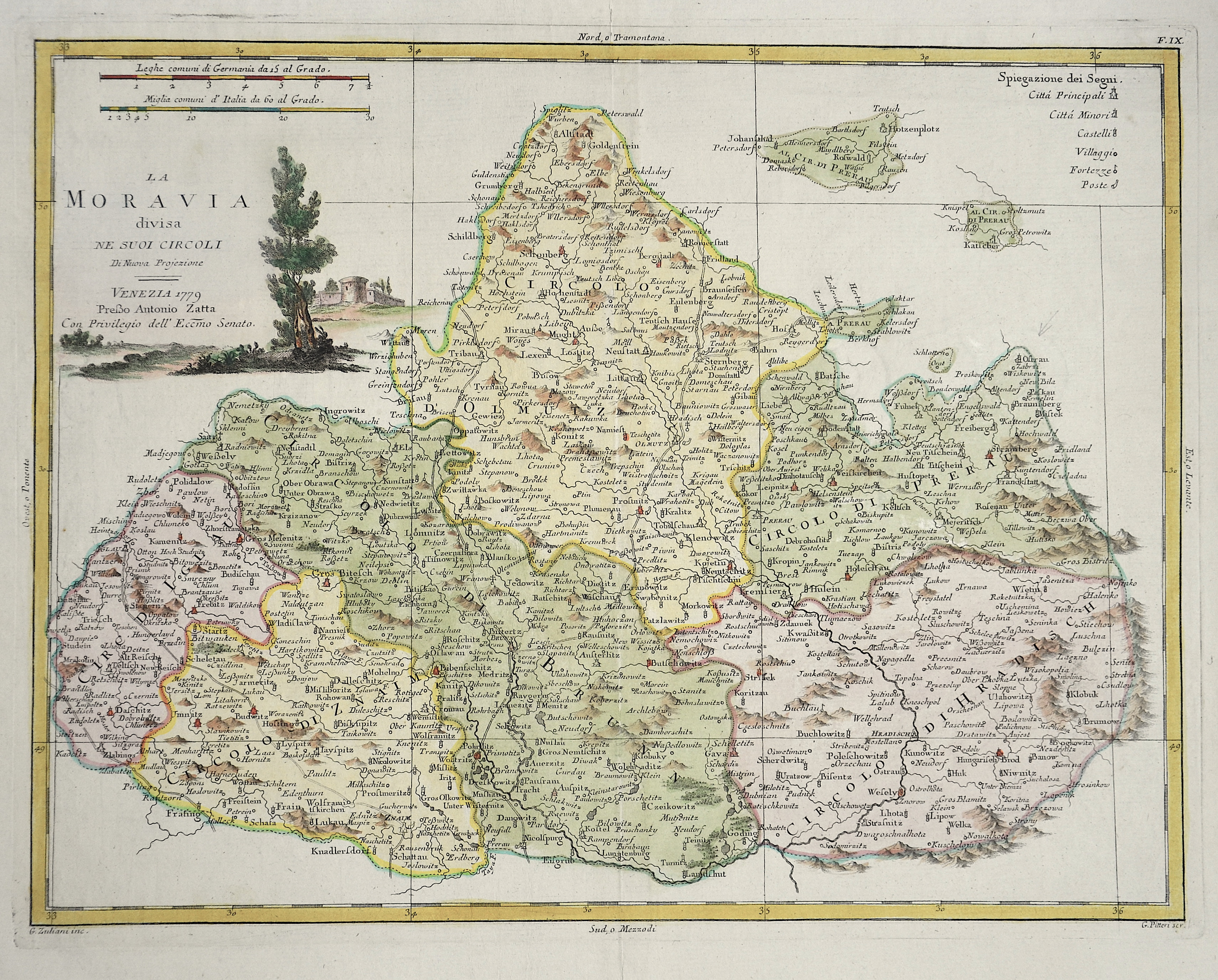 Zatta  La Moravia divisa ne suoi Circoli