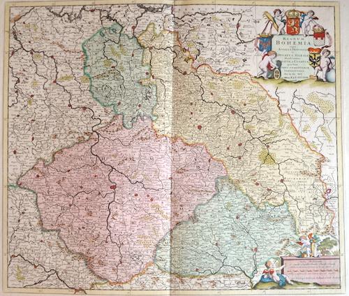 Ottens Josua und Renier Regnum Bohemia. Eique Annexae Provinciae ut Ducatus Silesia Marchionatus Moravia et Lusatia