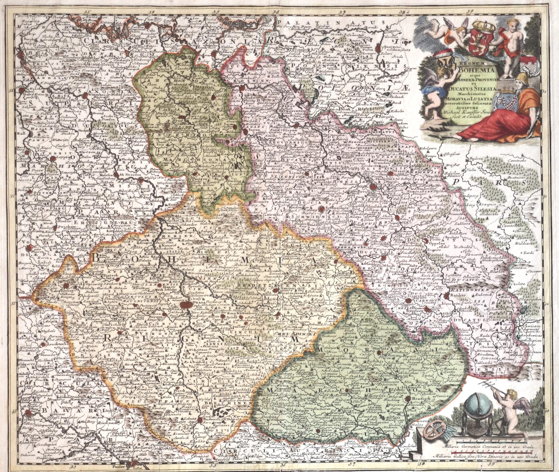 Kauffer  Regnum Bohemia eique annexae Provinciae ut Ducatus Silesia Marchionatus Moravia et Lusatia