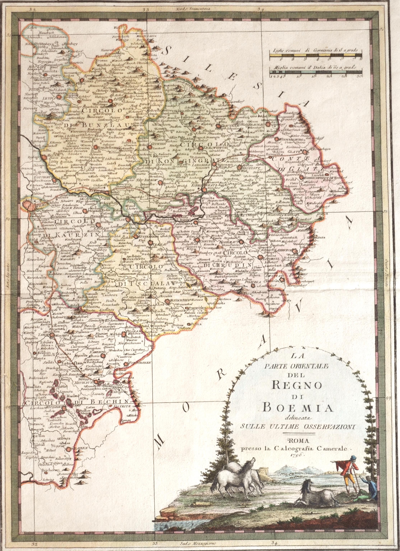 Cassini  La Parte Orientale del Regno die Boemia