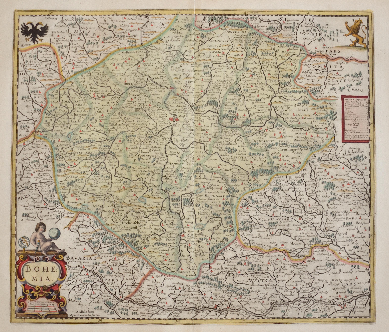 Janssonius/Mercator-Hondius, H.  Bohemia.