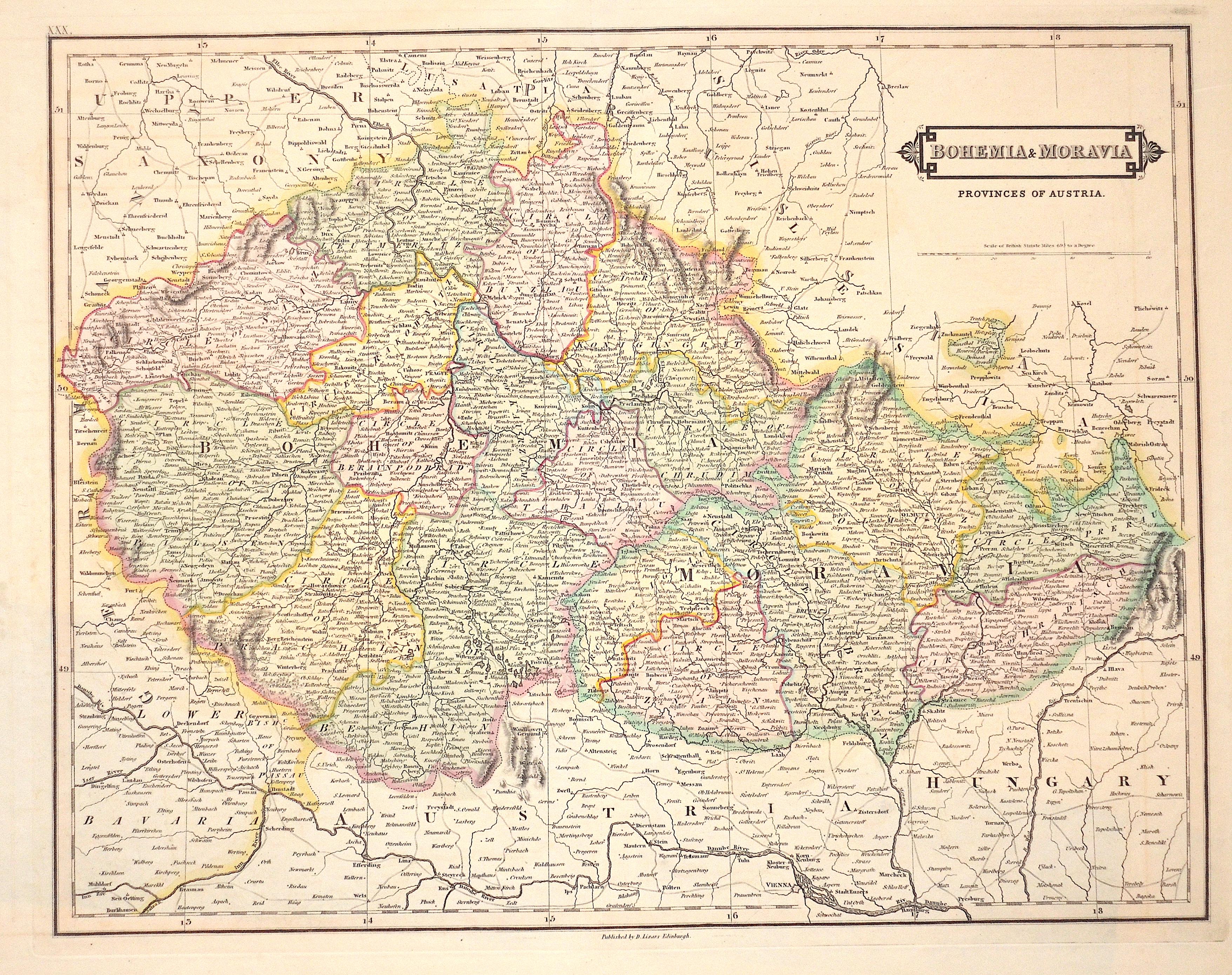 Lizars  Bohemia & Moravia